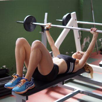 Ejercicios en gimnasio