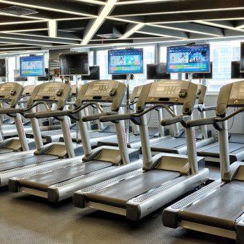 Entrenamiento de cardio en gimnasio, cinta de correr