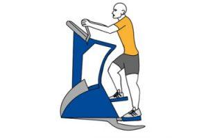 Entrenamiento de cardio en gimnasio