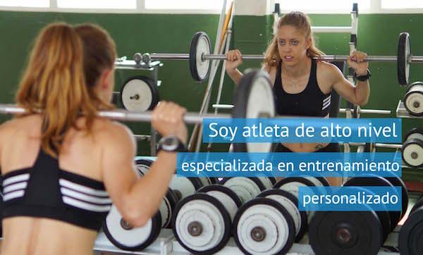 Atleta de alto nivel especializada en entrenamiento personalizado