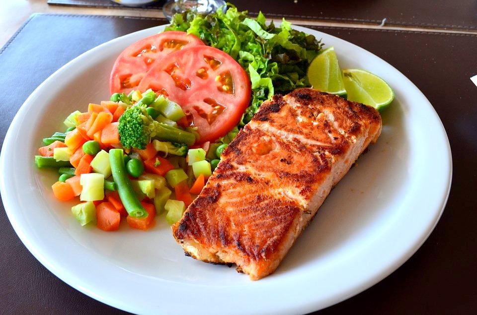 Comida de dieta de gimnasio para bajar de peso